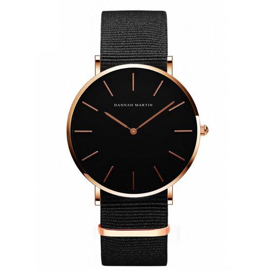 HANNAH MARTIN นาฬิกาข้อมือ รุ่น HM3690-BK/RG