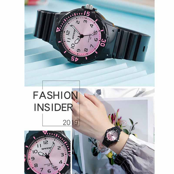 SANDA นาฬิกาข้อมือ รุ่น SW6011-BK/PU