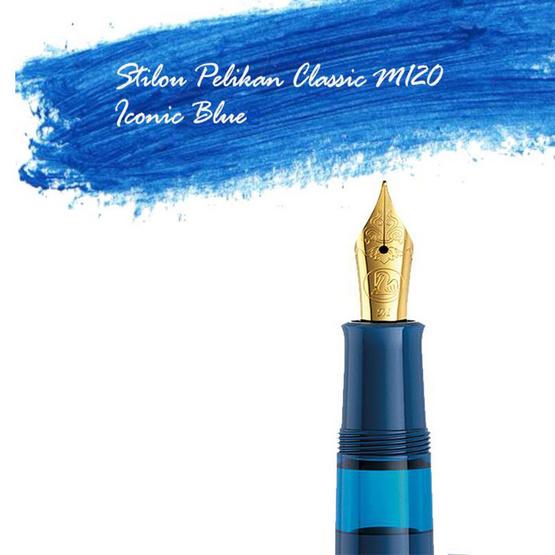 Pelikan ปากกาหมึกซึม Classic M120 Iconic Blue