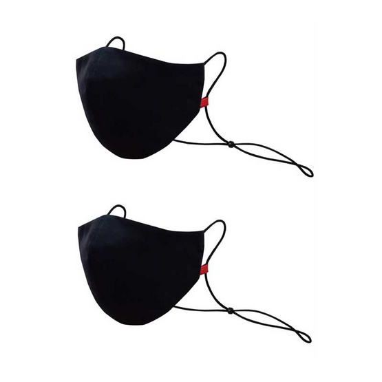 FQ&L Mask หน้ากากผ้ากันน้ำWater&Oil -Repellent Reusable Masks แพ็ค 2 (ดำ+ดำ)
