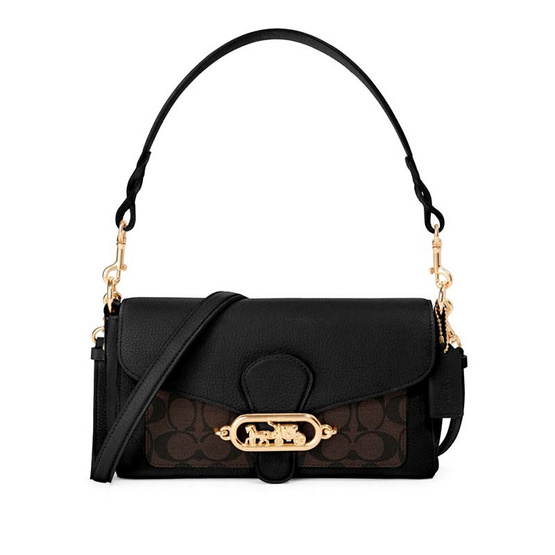 COACH F90782 SMALL JADE SHOULDER BAG WITH SIGNATURE CANVAS DETAIL (IMAA8)