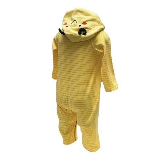 ENFANT ชุดหมีแขนยาว ลายผึ้ง มีฮู้ดหน้าผึ้ง สำหรับเด็กแรกเกิด