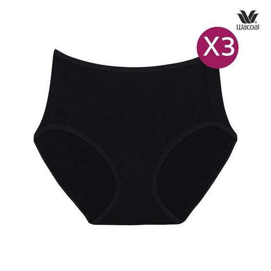 Wacoal กางเกงในรูปแบบเต็มตัว เซ็ต 3 ชิ้น รุ่น WU4987 สีดำ