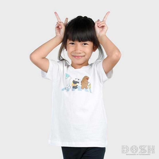 DOSH เสื้อยืดคอกลมแขนสั้น เด็ก Unisex ลาย We Bare Bears สีขาว FBBBT5000-WH