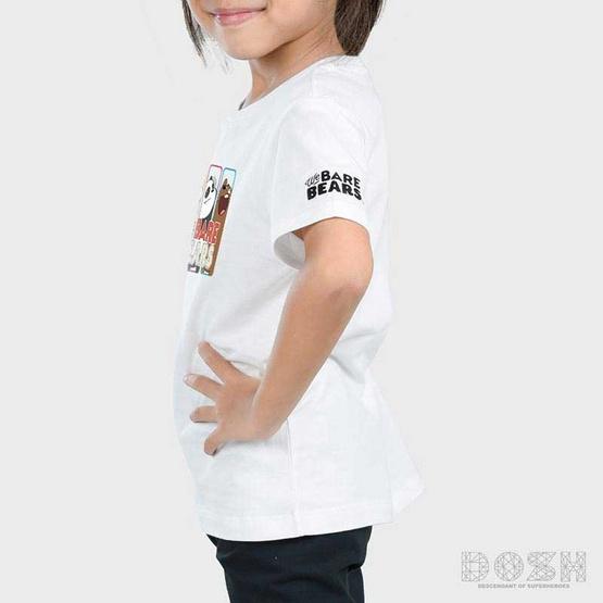 DOSH เสื้อยืดคอกลมแขนสั้น เด็ก Unisex ลาย We Bare Bears สีขาว FBBBT5002-OW
