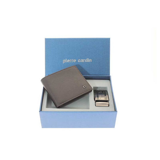 Pierre Cardin กระเป๋าธนบัตร+เข็มขัด รุ่น GWB20-A1 BN