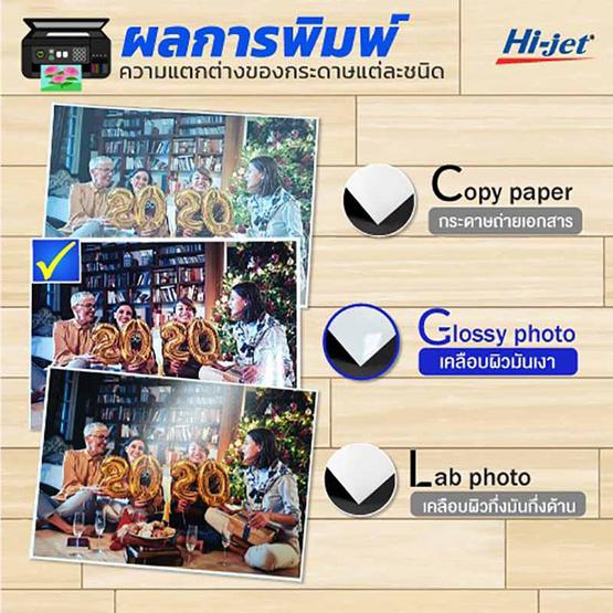 Hi-jet กระดาษโฟโต้ ผิวมัน Inkjet Platinum Glossy Photo Paper 150แกรม A4 (200 แผ่น)