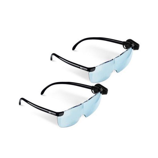 BIG VISION แว่นตาขยายไร้มือจับ + CLIP ON LED (2 ชิ้น)