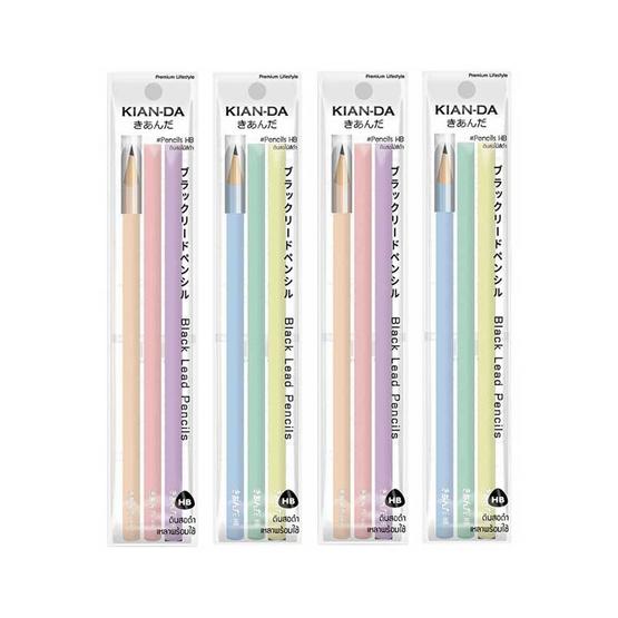 ดินสอไม้ HB KIAN-DA แพ็ก3แท่ง (4 แพ็ก)
