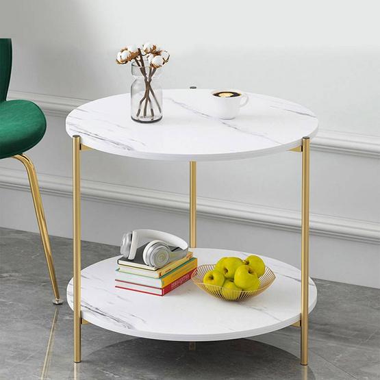 CASSA โต๊ะกลม ลายหินอ่อน