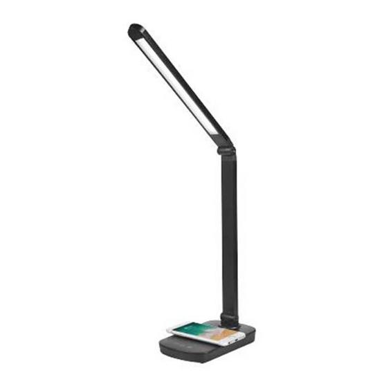 Hafele โคมไฟ LED ตั้งโต๊ะพร้อมแท่นชาร์จมือถือแบบไร้สาย