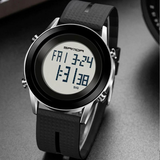 SANDA นาฬิกาข้อมือ รุ่น SW6026-BK/SI