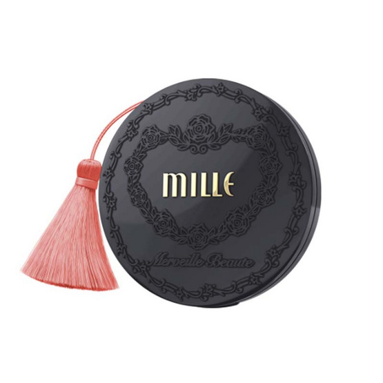 MILLE แป้งผสมรองพื้น Charcoal Matte Cover Pact SPF25 PA++ 11 กรัม #01 Light