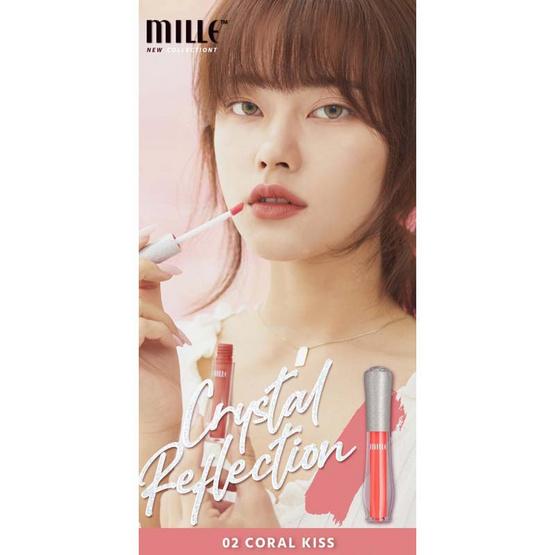 MILLE ลิควิดลิปสติก Reflection Satin Glaze Lip #02 Coral Kiss