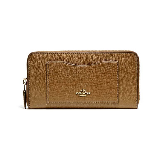 COACH F54007 ACCORDION ZIP WALLET IN CROSSGRAIN LEATHER (IMLQD)