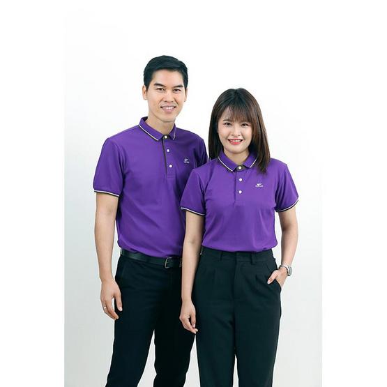 CP ALL เสื้อโปโลชาย Upcycling สีม่วง