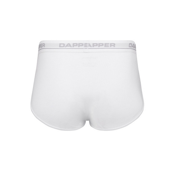 Dapper Men's Anti-Bacterial Briefs White (Pack 3 Pcs.)