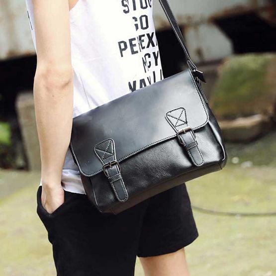 OSAKA รุ่น NE101-สีดำ กระเป๋าสะพายไหล่