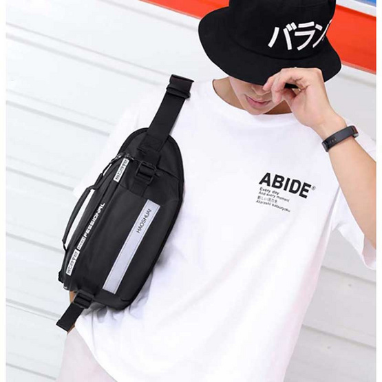 OSAKA รุ่น KA02 สีดำ กระเป๋าคาดอก คาดเอว สะพายไหล่