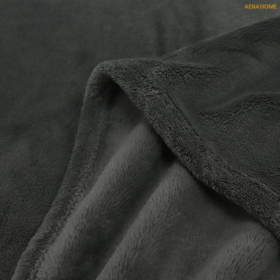 Aena ผ้าห่มชิลล่า สีเทาเข้ม 59x98 นิ้ว