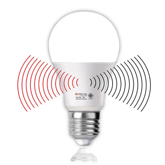 RANDY LED 7 วัตต์ ไนท์เซ็นเซอร์ แสงเหลือง 3แถม1
