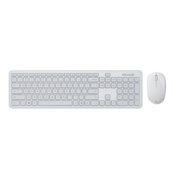 Microsoft ชุดเม้าส์ คีย์บอร์ดไร้สาย Bluetooth Desktop (ไทย - อังกฤษ Keyboard)