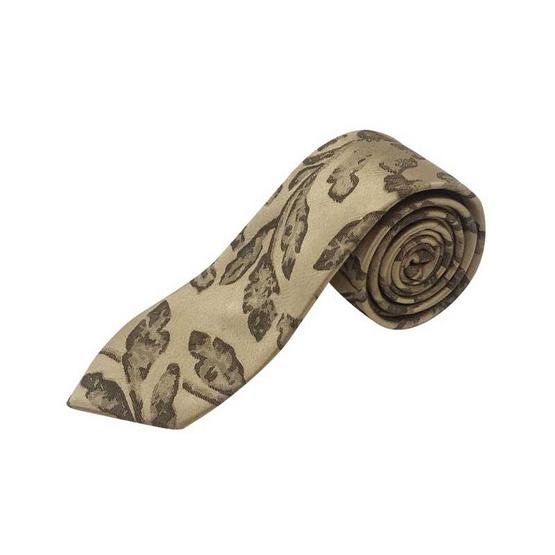 DAPPER 6.5 cm Leaves Motif Jacquard Tie