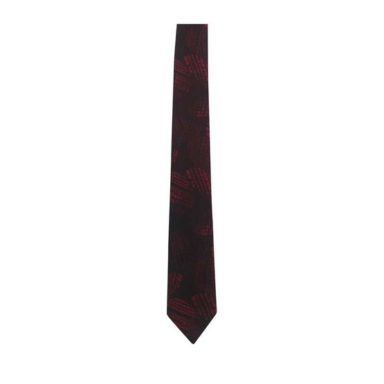 DAPPER 6.5 cm Geometric Wave Jacquard Tie