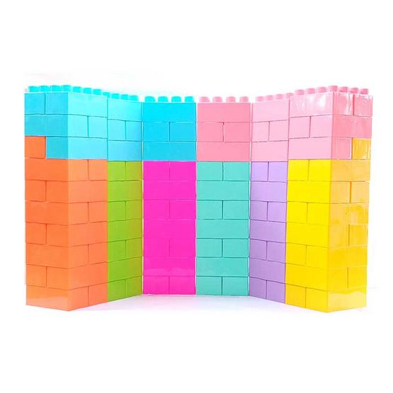 คิว-แคร์ ทอยส์ ตัวต่อยักษ์ Size L/120 (Set คละสี 8 สี)