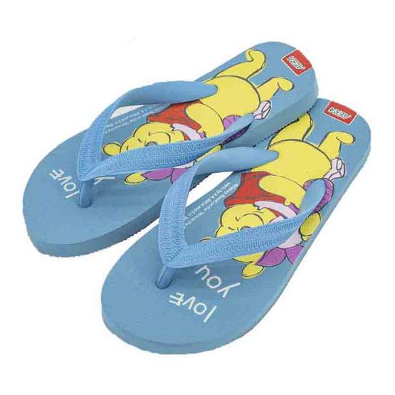 รองเท้าแตะลายหมีพูห์PH3572 สีฟ้า