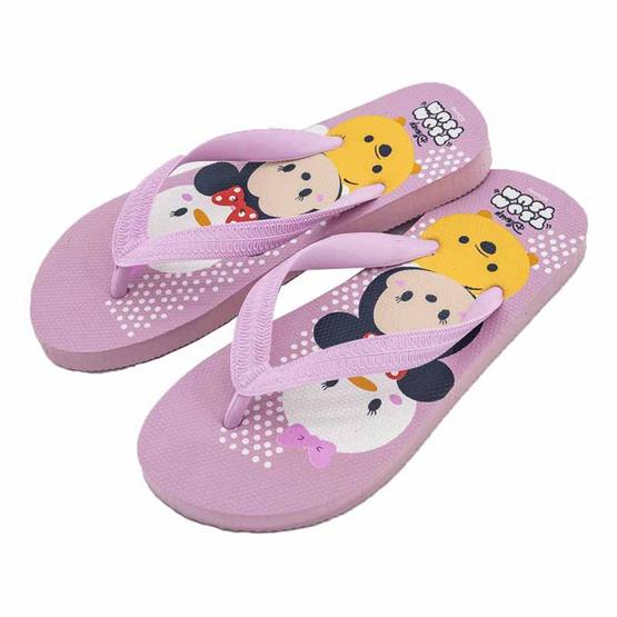 รองเท้าแตะลายTsum Tsum TS3576 สีชมพู