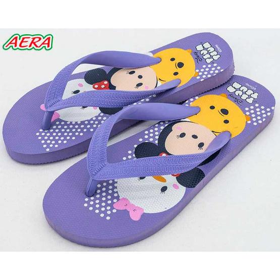 รองเท้าแตะลายTsum Tsum TS3576 สีม่วง