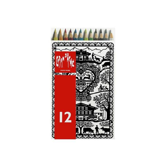 Caran D'Ache ดินสอสีระบายน้ำ REDBOX 12 สี 288.712