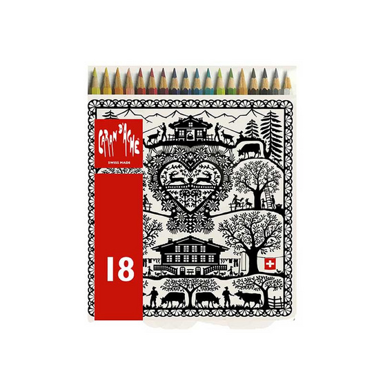 Caran D'Ache ดินสอสีระบายน้ำ REDBOX 18 สี 288.718