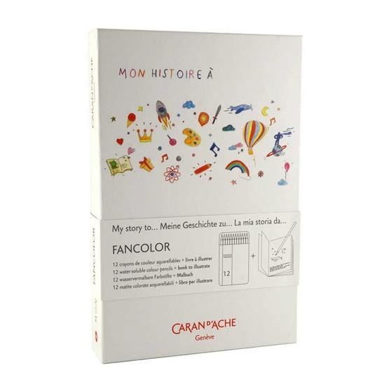 Caran D'Ache ชุดสีไม้ระบายน้ำ Fancolor 12 สีCC1288.312