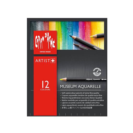 Caran D'Ache ชุดดินสอสีระบายน้ำ Museum 12 สี 3510.312