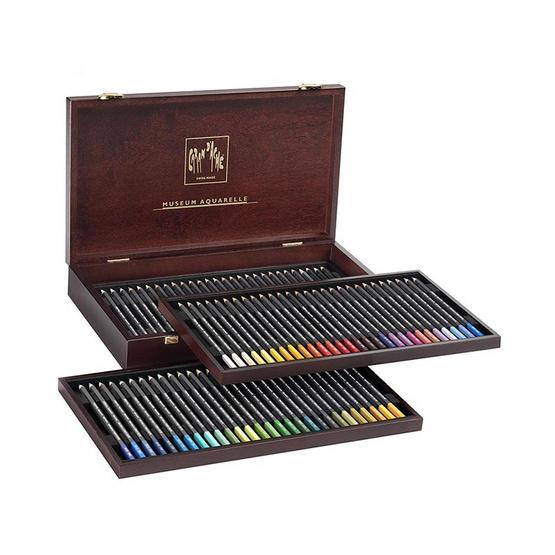 Caran D'Ache ชุดสีไม้ รุ่น Museum Aquarelle 76 สี ในกล่องไม้สุดหรู 3510.476