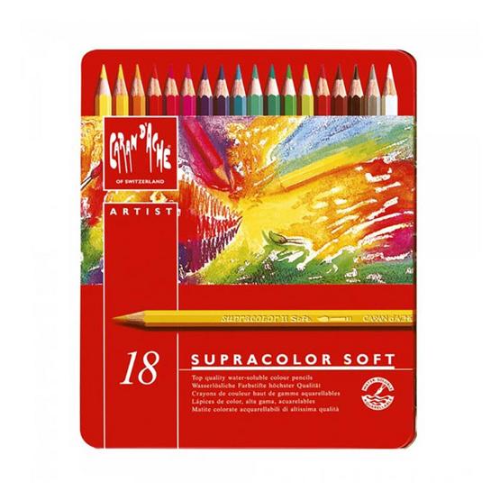 Caran D'Ache ดินสอสีระบายน้ำ Supracolor 18 สี 3888.318