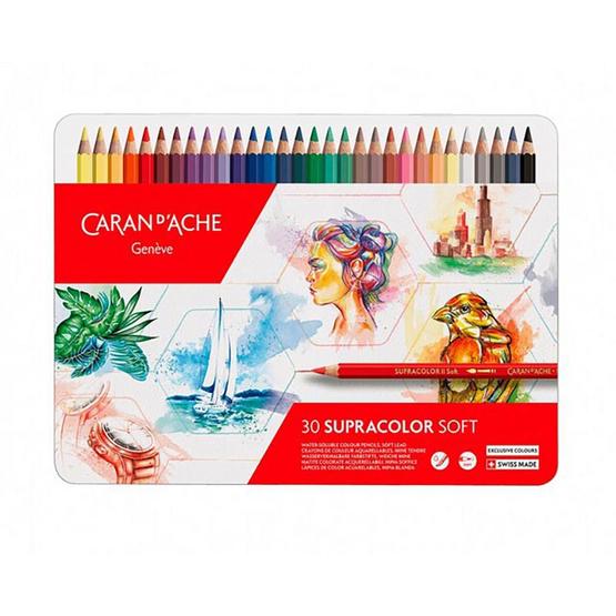 Caran D'Ache ชุดสีไม้ระบายน้ำ Supracolor Soft ฉลองครบรอบ 30 ปี 30 สี Limited Edition 3888.830