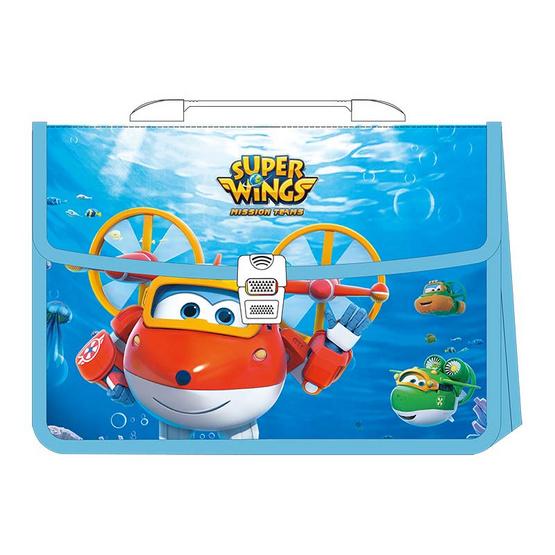 กระเป๋าเอกสาร 2 ช่อง A4 ลายSuper Wings E38166 (คละลาย1ชิ้น)