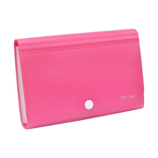 Deli 5561 กระเป๋าแฟ้มหีบเพลงใบเล็ก 13 ช่อง A6 คละสี (แพ็ก3ชิ้น)