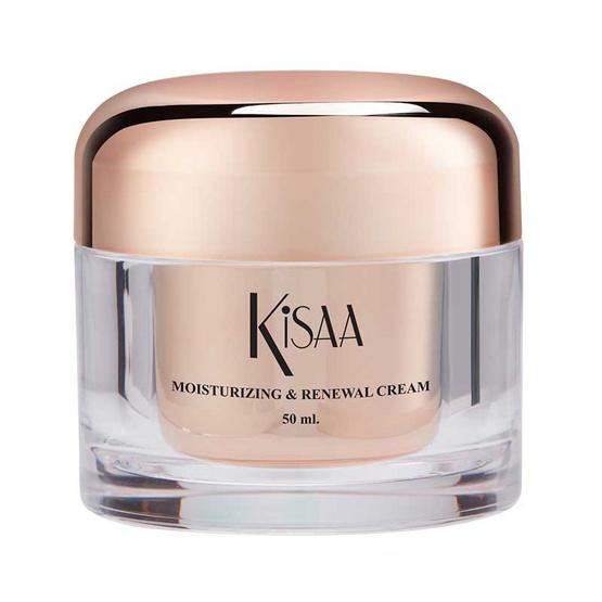 Kisaa ครีมบำรุงผิวหน้า Moisturizing & Renewal Cream 50 มล.
