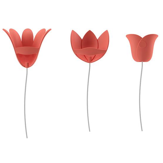 UMBRA อุปกรณ์ตกแต่งผนัง 3 มิติ ลายดอกไม้สีชมพู