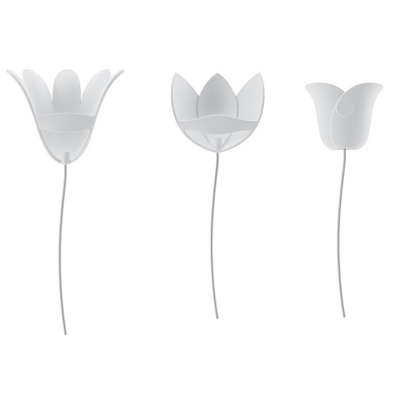 UMBRA อุปกรณ์ตกแต่งผนัง 3 มิติ ลายดอกไม้สีขาว