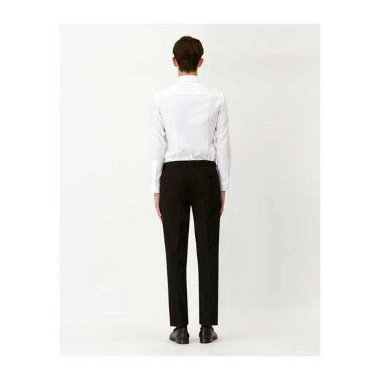 DAPPER Black Nylon/Spandex Slim-Fit Stretch Trousers