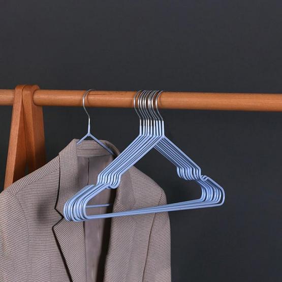 CASSA ไม้แขวนเสื้อรักษาทรง แพ็ก 10 ชิ้น - สีฟ้า