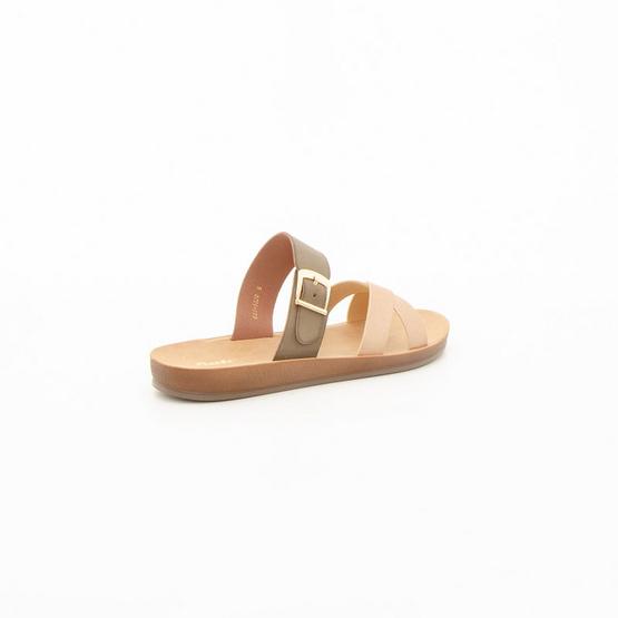 Bata รองเท้าแตะแฟชั่นสตรีแบบสวม เปิดส้น สีชมพู - 6615520