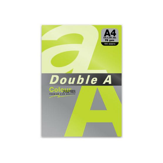 Double A กระดาษสี A4 หนา 75 แกรม (แพ็ก 100 แผ่น)