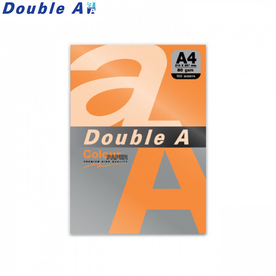 Double A กระดาษสี A4 หนา 80 แกรม (แพ็ก 100 แผ่น)