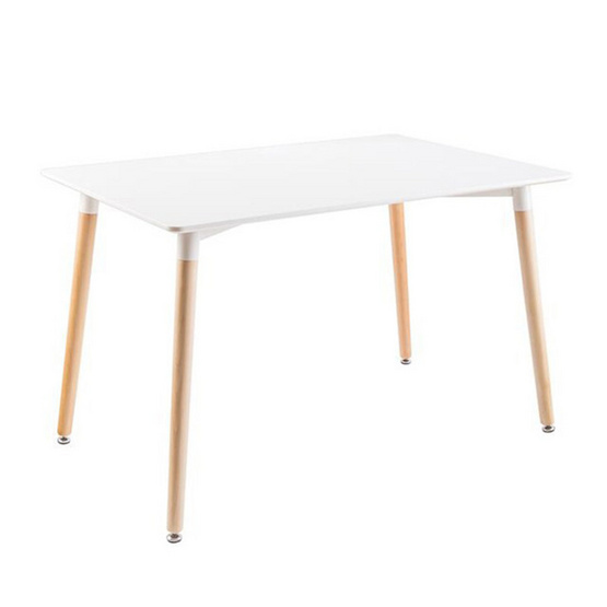 Inmyhome โต๊ะทำงาน โต๊ะสีขาวขาไม้ รหัส 8864